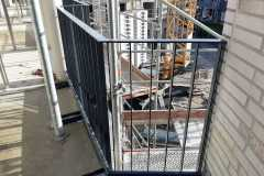 Geländer am Laubengang